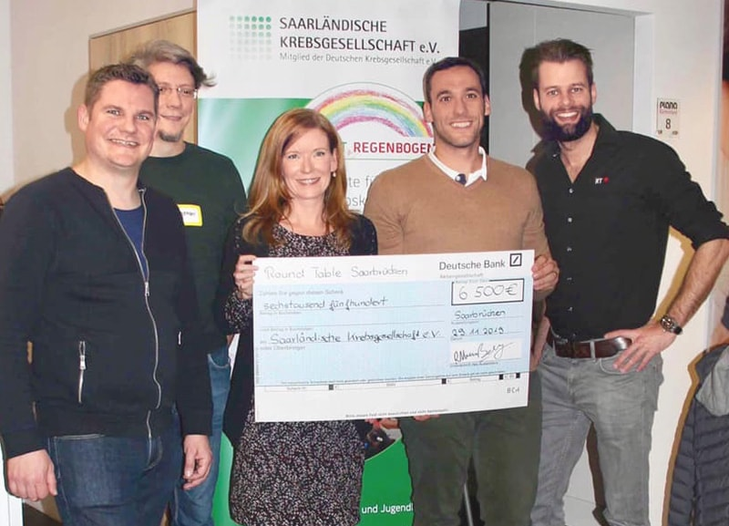 Round Table Saarbrücken spendet für das Projekt Regenbogen