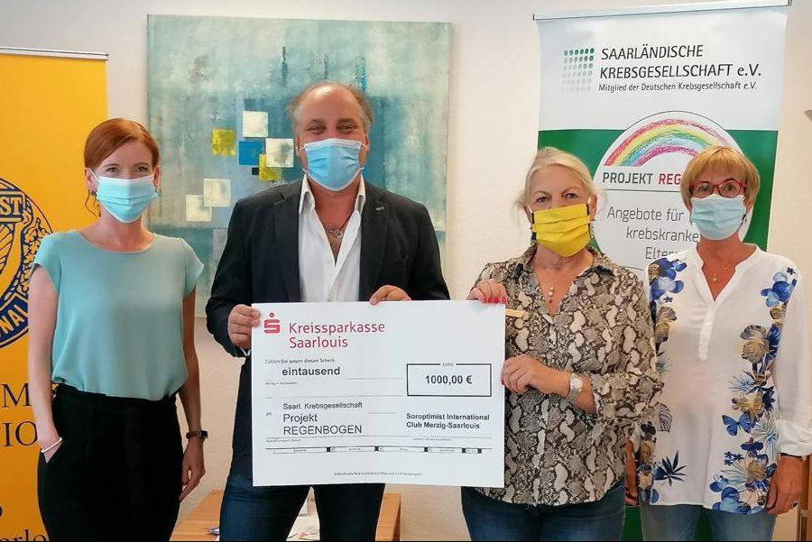 Scheckübergabe Soroptimist: Dr. Steffen Wagner, Sabine Rubai
